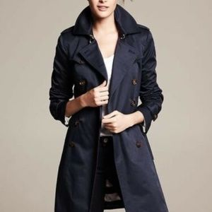 Banana Republic Navy Trench - S